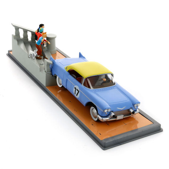 Adventures of Tintin - Cadillac Eldarado Car Scene by Moulinsart