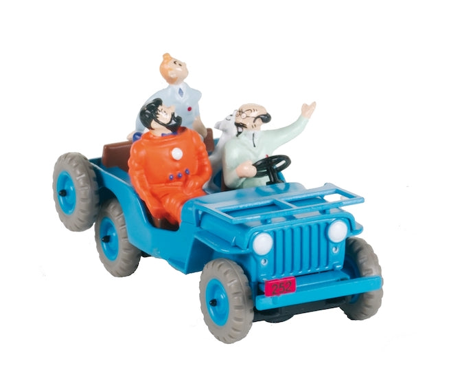 Adventures of Tintin - Blue Jeep Car Scene by Moulinsart