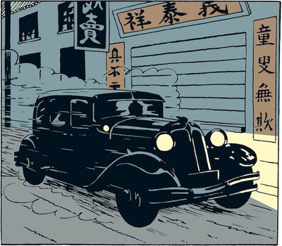 Adventures of Tintin - Limousine on Route to Nanking Car Scene by Moulinsart