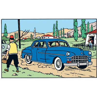 Adventures of Tintin - Cornet's Dodge Car Scene by Moulinsart -Moulinsart - India - www.superherotoystore.com