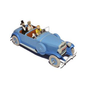 Adventures of Tintin - Blue Lincoln Torpedo Car by Moulinsart