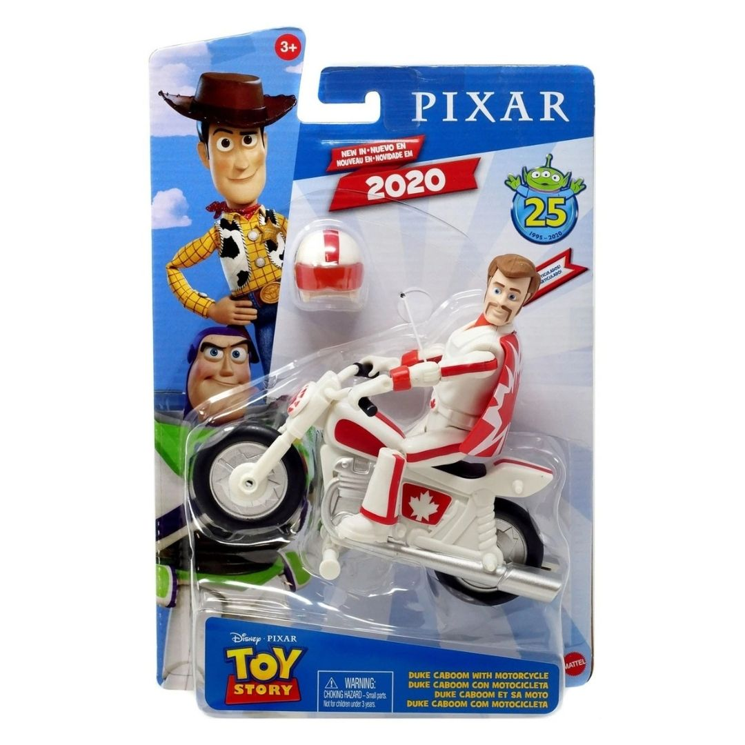 Disney Pixar Toy Story Duke Kaboom With Motorbike Figure by Mattel -Mattel - India - www.superherotoystore.com