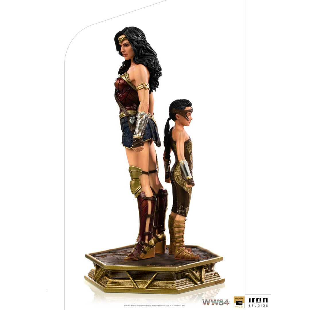 Wonder Woman 1984: Wonder Woman & Young Diana 1:10th Scale Deluxe Statue by Iron Studios -Iron Studios - India - www.superherotoystore.com