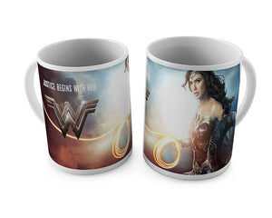 Wonder Woman Movie: Wonder Woman White Mug by Happy Giftmart