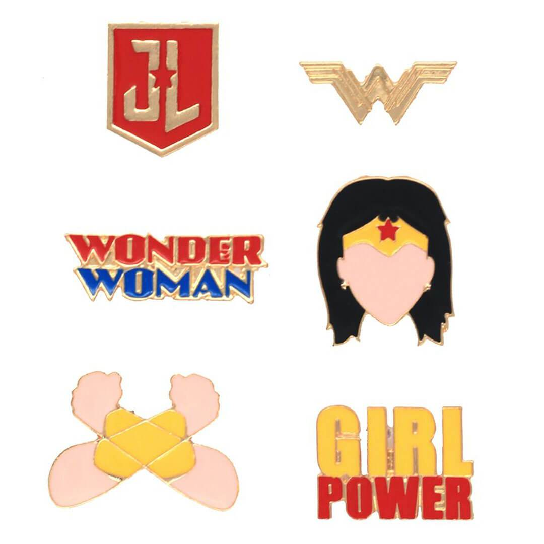 Justice League Wonder Woman Pin Set by EFG -EFG - India - www.superherotoystore.com