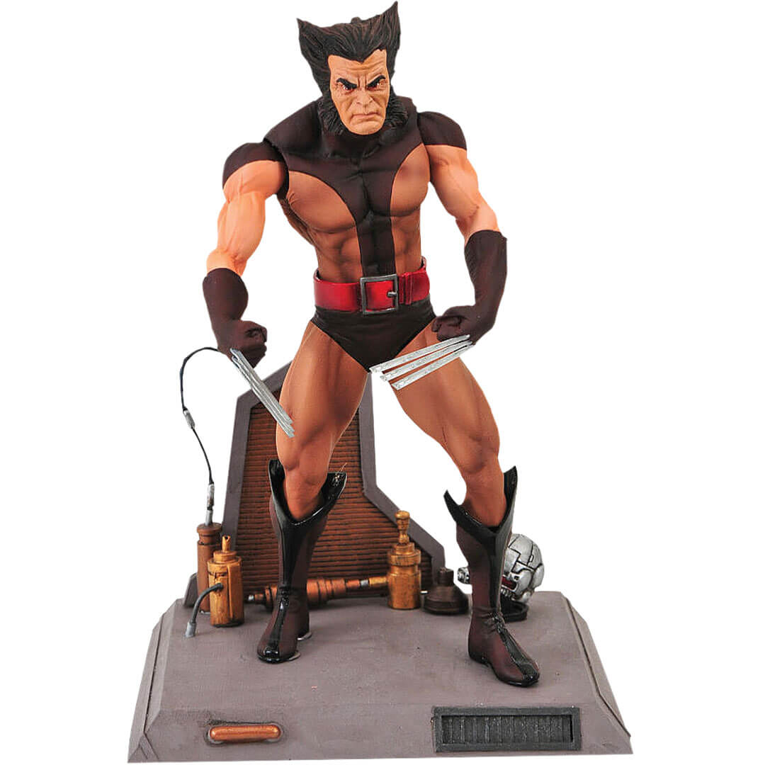 Unmasked Wolverine (Brown Costume) Figure by Diamond Select Toys -Diamond Select toys - India - www.superherotoystore.com