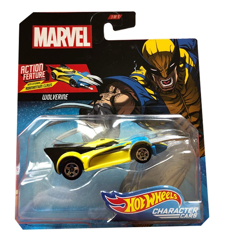 Marvel Character Car Wolverine 1:64 Scale Die Cast Car by Hot Wheels