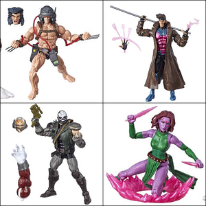 X-Men Marvel Legends Gambit, Weapon-X, Skullbuster & Forge 4-Pack by Hasbro