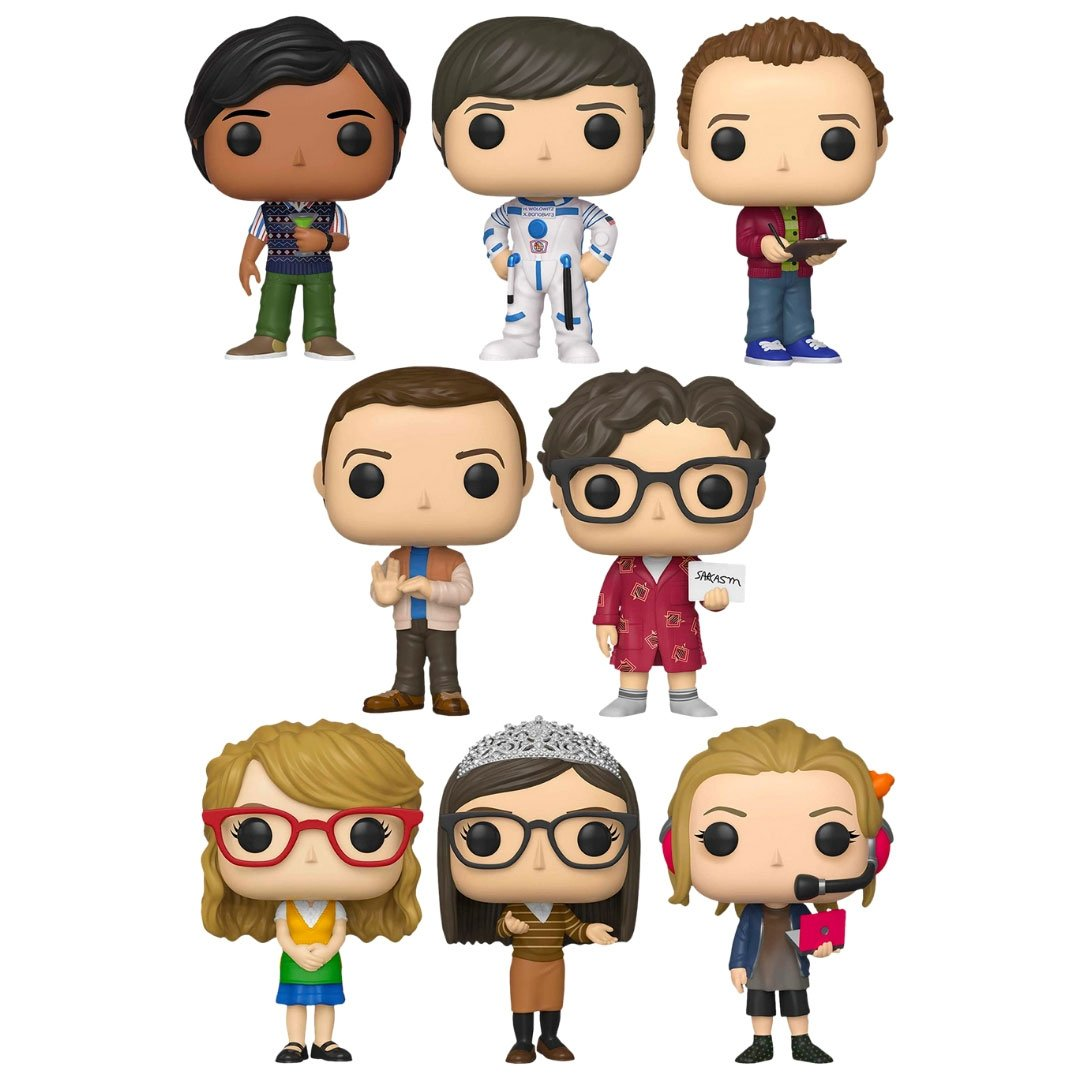 The Big Bang Theory Pop! Vinyl Figures Set by Funko