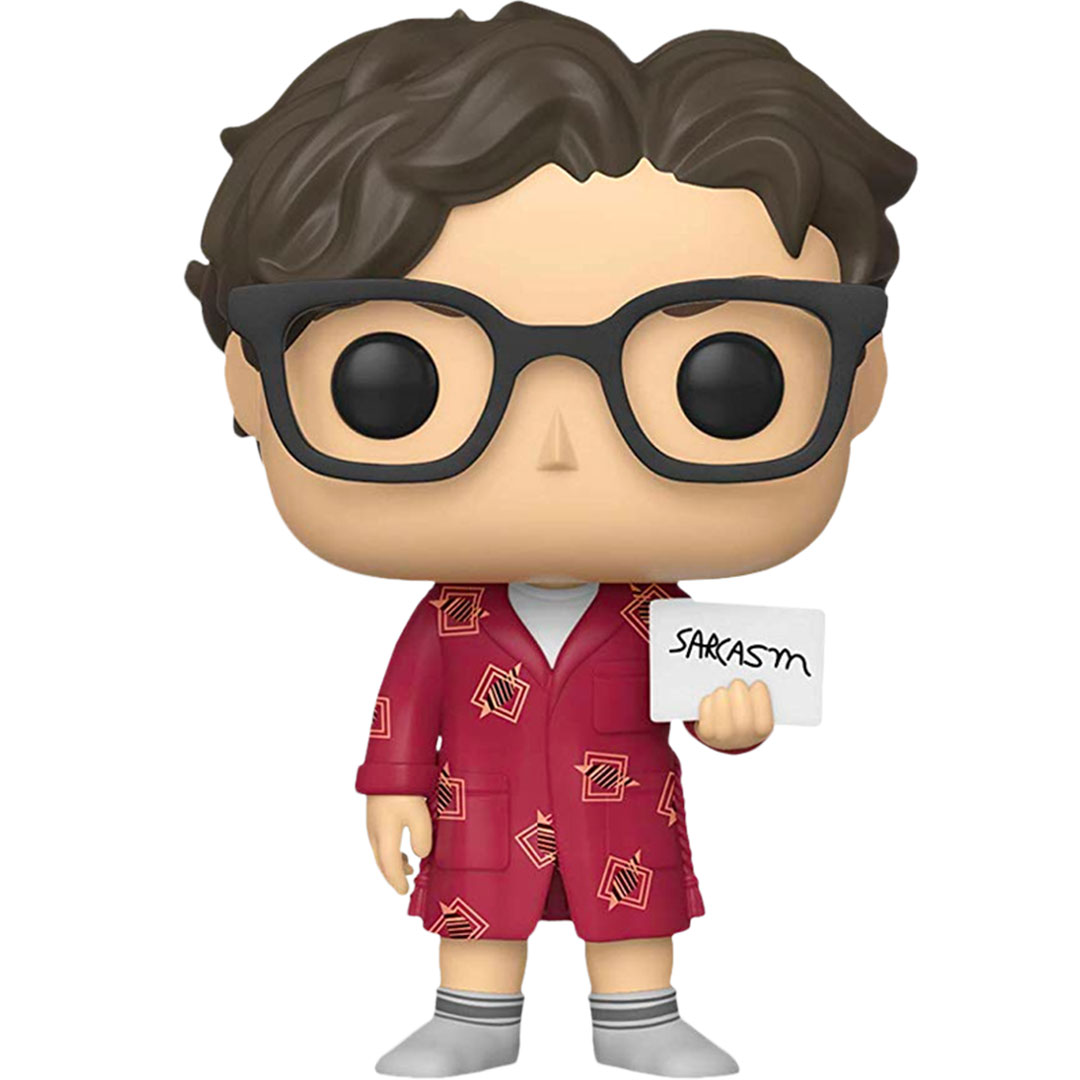 The Big Bang Theory Leonard with Sarcasm Sign Pop! Vinyl Figure by Funko