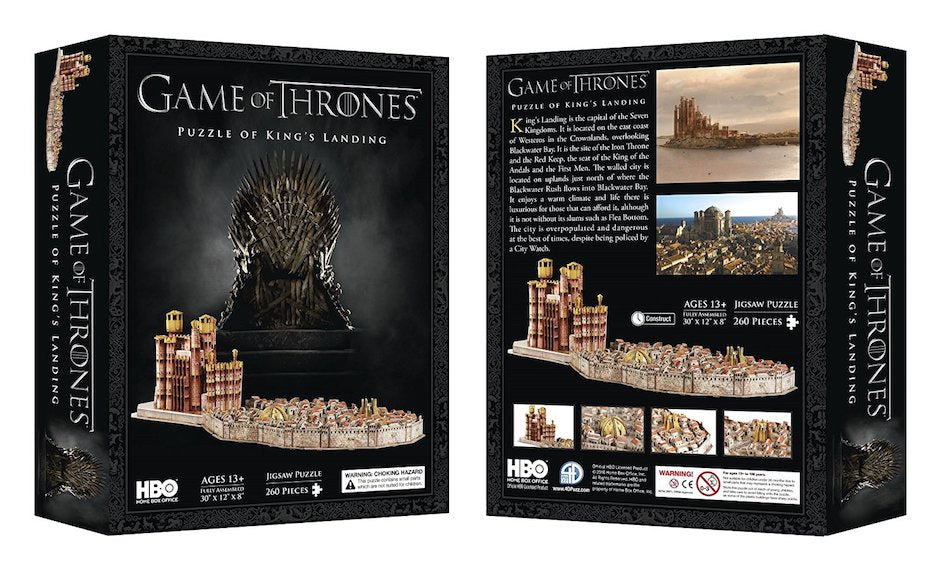 3D Game of Thrones Kings Landing Puzzle by 4D Cityscape Inc