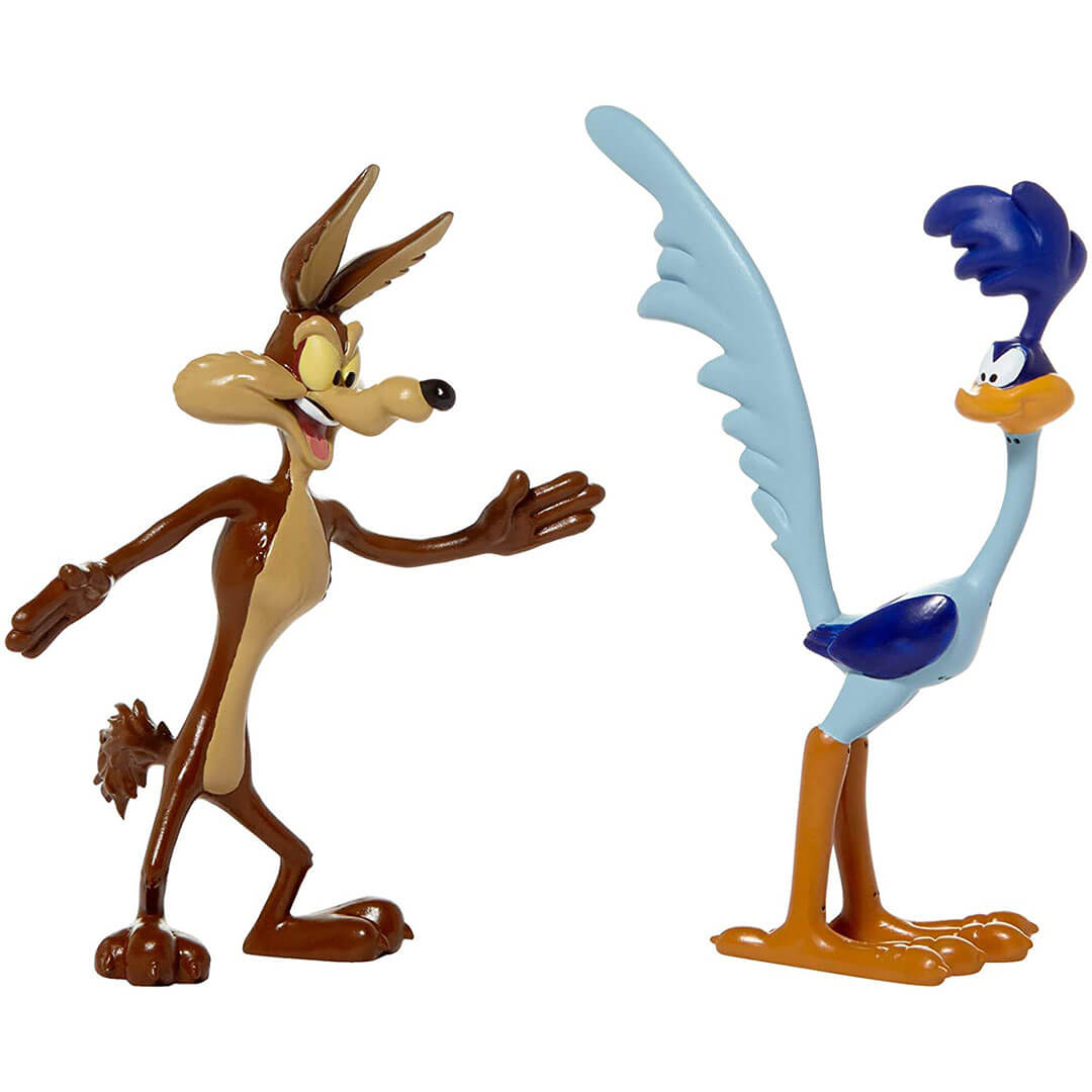 Looney Tunes Wile E. Coyote & Roadrunner Bendable 2-Pack by NJ Croce