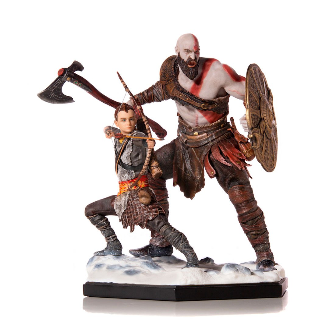 God of War - Kratos and Atreus Deluxe 1:10 Art Scale by Iron Studios