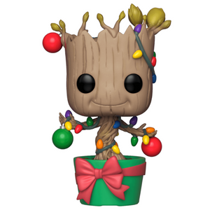 Holiday Dancing Groot with Ornaments Vinyl Bobble-Head by Funko