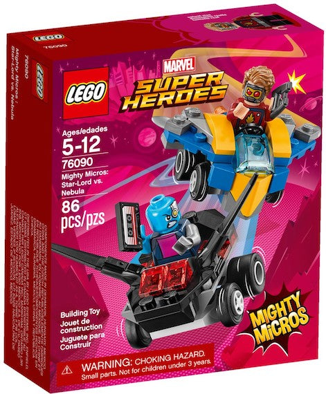 Marvel Superheros: Mighty Micros: Star Lord Vs Nebula by Lego