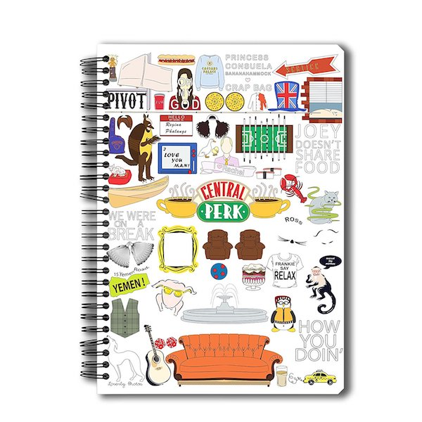 Friends TV Series Doodle Notebook by MC Sidd Razz