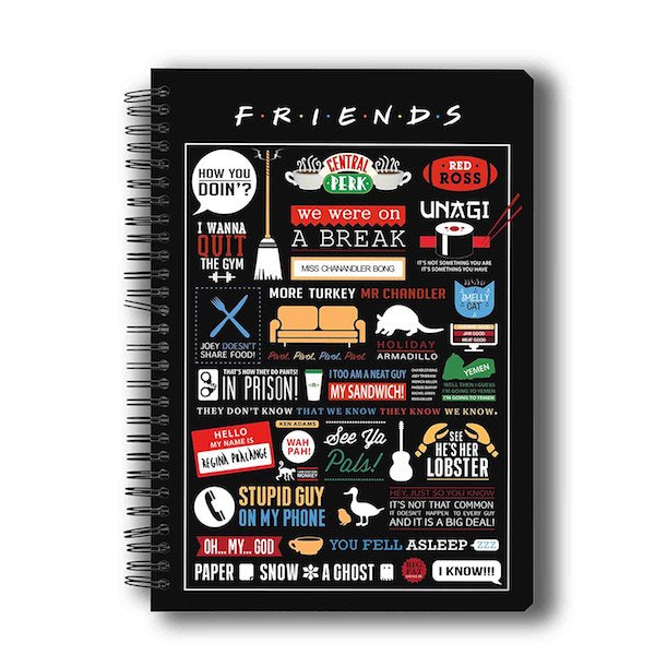 Friends TV Series Infographic Notebook by MC Sidd Razz