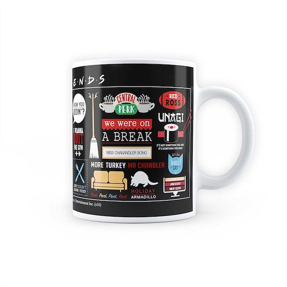 Friends TV Series Infographic Mug by MC Sidd Razz