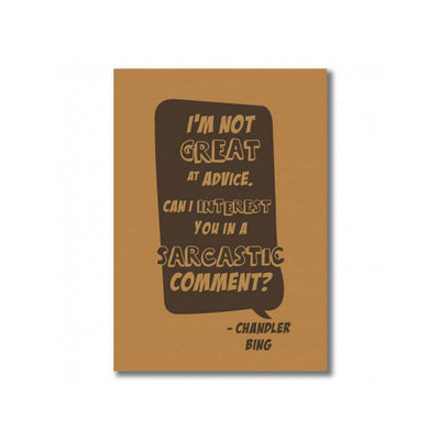 Chandler Bing Comment Notebook by EFG -EFG - India - www.superherotoystore.com