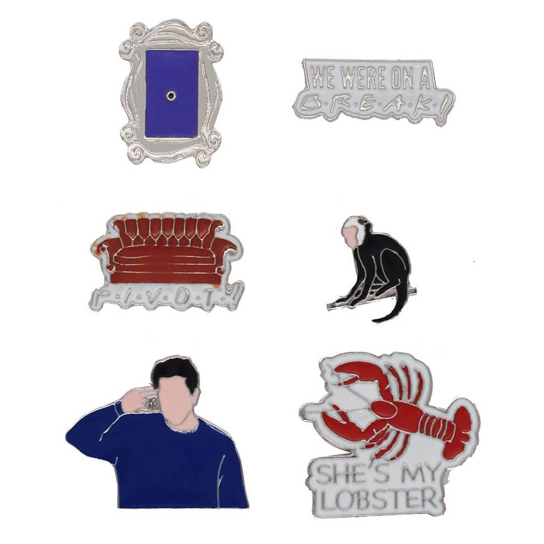 Friends Ross Geller Enamel Pinset by EFG -EFG - India - www.superherotoystore.com