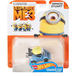 Minions Character Cars Stuart Die Cast Car by Hot Wheels