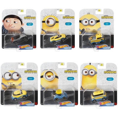 Minions: The Rise 6 Pack Die-Cast Car Set by Hot Wheels -Hot Wheels - India - www.superherotoystore.com