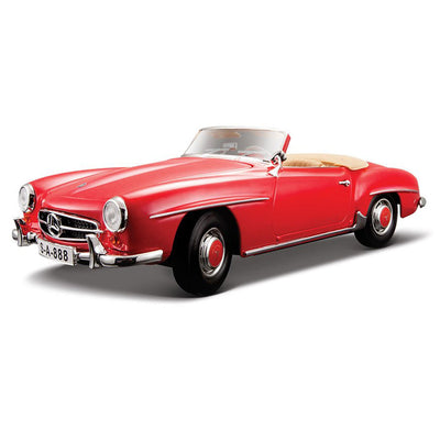 1:18 Scale 1955 Mercedes Benz 190 SL (Red) Die-Cast Car by Maisto -Maisto - India - www.superherotoystore.com