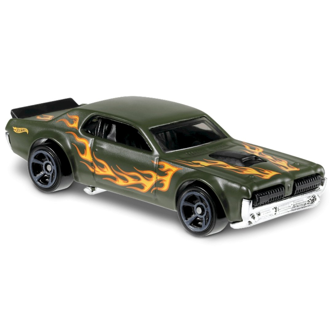 HW Flames 68 Mercury Cougar 1:64 Scale Die-Cast Car by Hot Wheels (164/250)