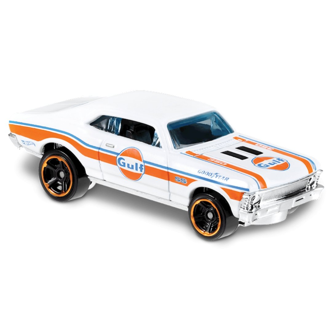 HW Speed Graphics 1968 Chevy Nova 1:64 Scale Die-Cast Car by Hot Wheels (67/250)