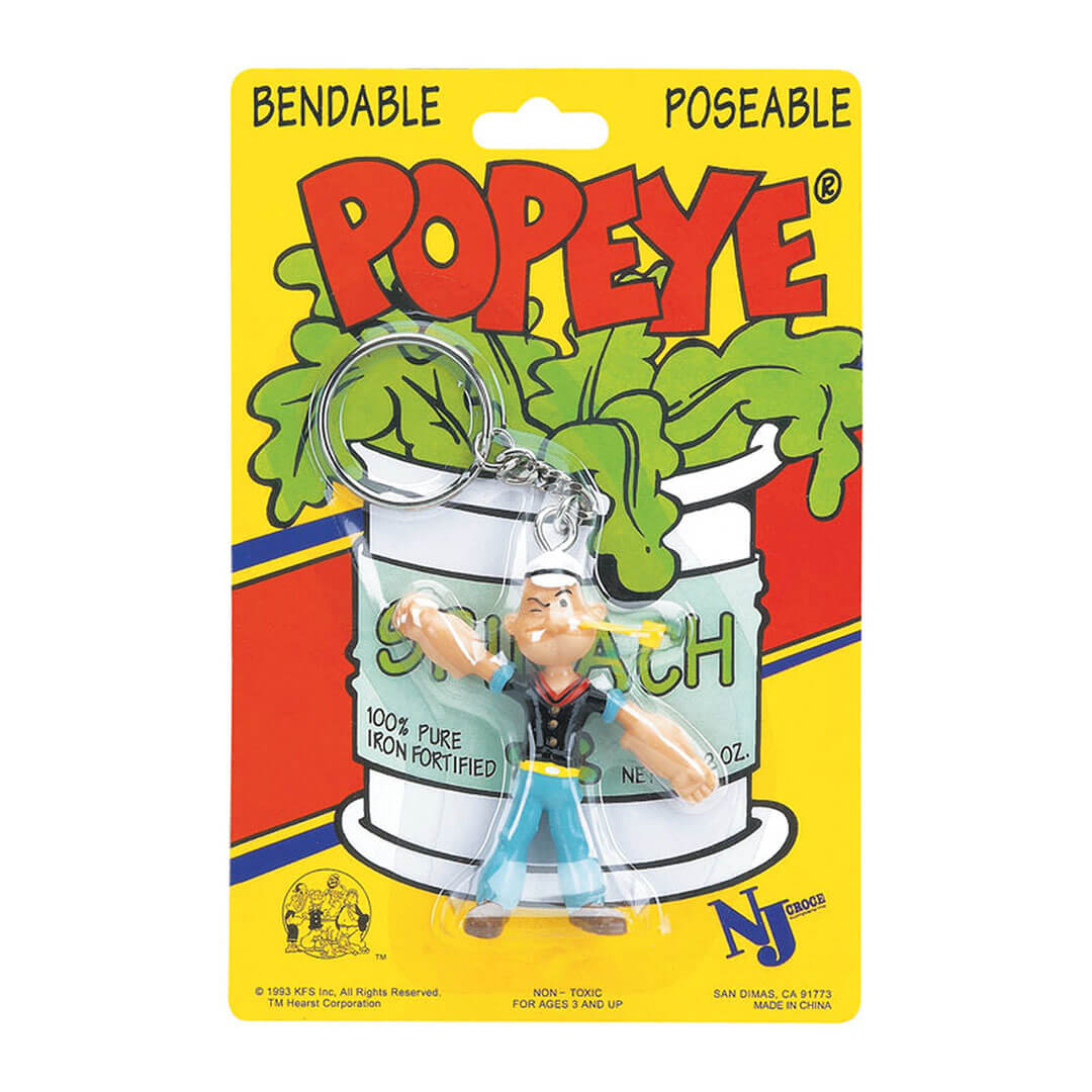 Popeye Bendable Keychain by NJ Croce -NJ Croce - India - www.superherotoystore.com