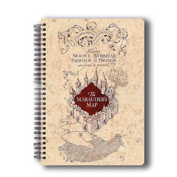 Harry Potter The Marauder's Map Notebook by MC Sidd Razz