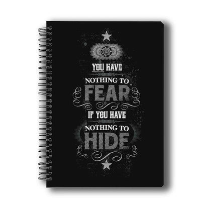 Harry Potter Nothing to Hide Notebook by MC Sidd Razz -MC Sidd Razz - India - www.superherotoystore.com