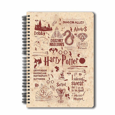 Harry Potter Infographic Red Notebook by MC Sidd Razz -MC Sidd Razz - India - www.superherotoystore.com