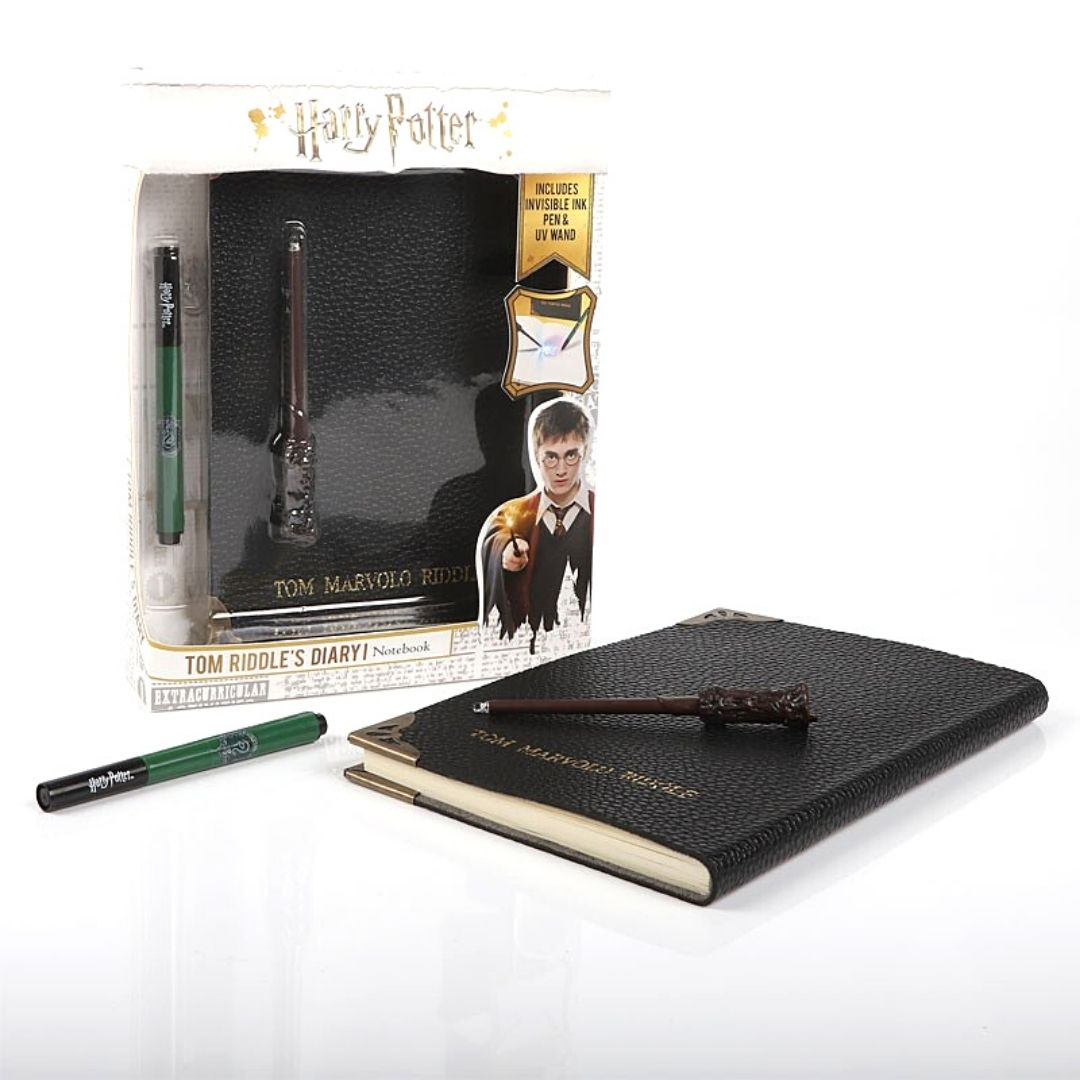 Harry Potter Tom Riddle's Diary Notebook Slytherin House Pen, & UV Wand by WowStuff -Wowstuff - India - www.superherotoystore.com