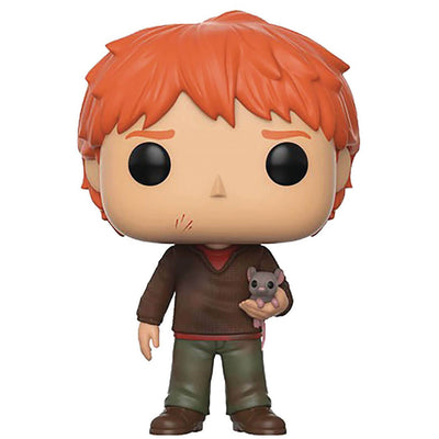 Harry Potter Ron Weasley with Scabbers Pop! Vinyl Figure by Funko -Funko - India - www.superherotoystore.com