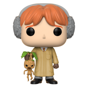 Harry Potter Ron Weasley with Mandrake Herbology Pop! Vinyl Figure by Funko