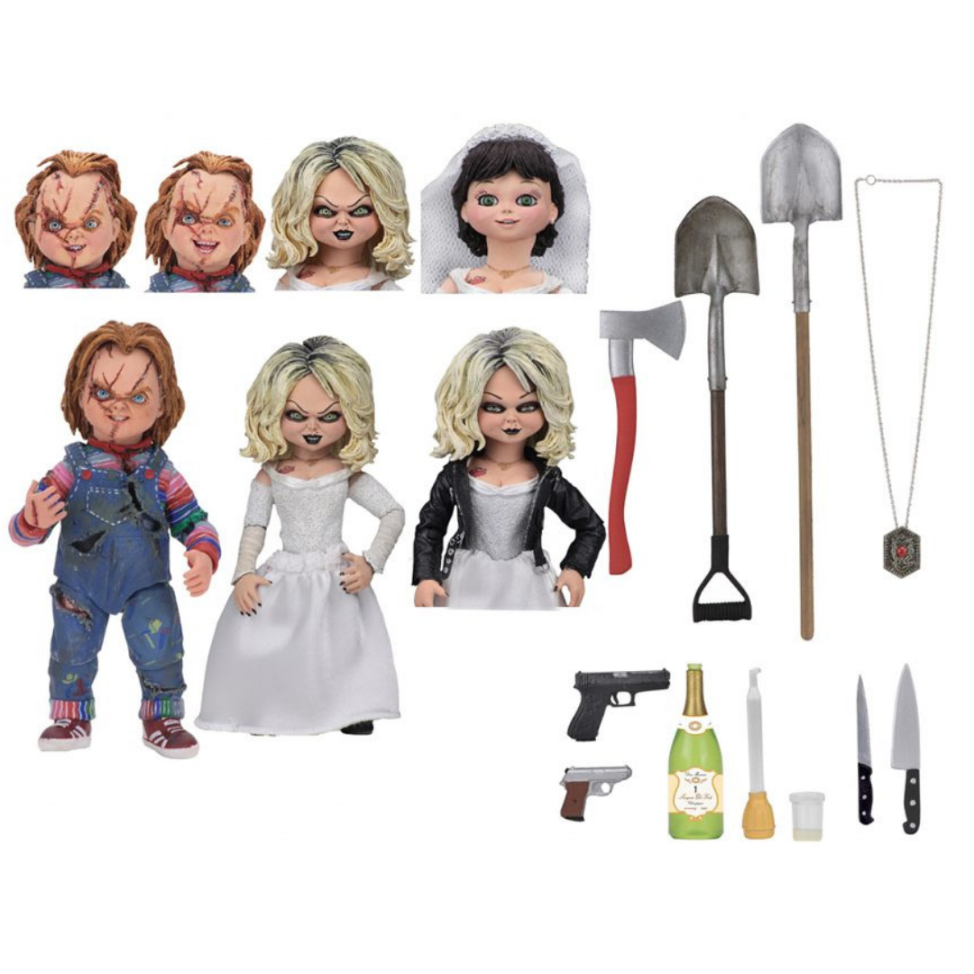 Bride of Chucky Ultimate Chucky & Tiffany 2 Pack by NECA
