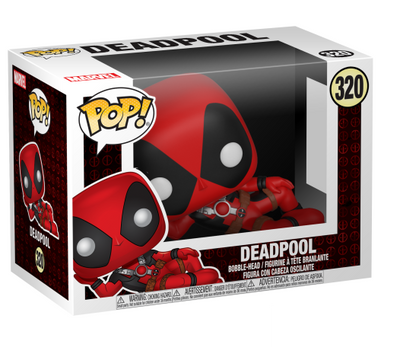 Deadpool Parody: Reclining Deadpool Pop! Vinyl Bobble-Head by Funko -Funko - India - www.superherotoystore.com