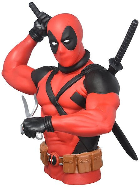 Deadpool Weapons Ready Bust Bank by Monogram International