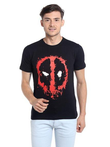Deadpool Smuged Logo T-Shirt by Posterboy -Posterboy - India - www.superherotoystore.com