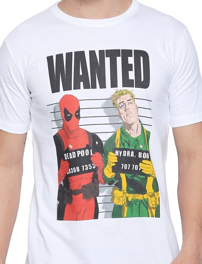Wanted Deadpool T-Shirt by Posterboy