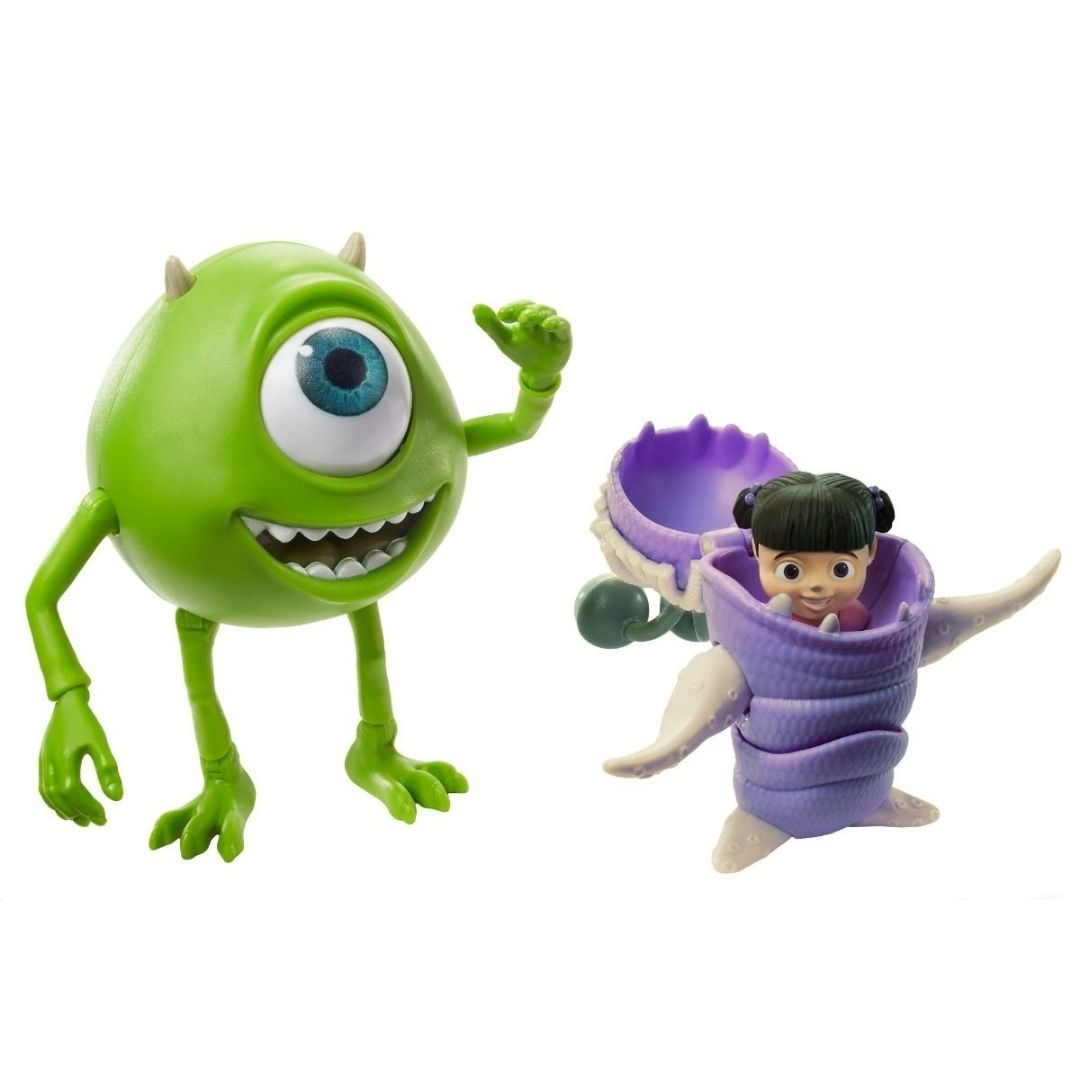 Disney Pixar Monster Inc Mike Wazowski & Boo Figure by Mattel -Mattel - India - www.superherotoystore.com