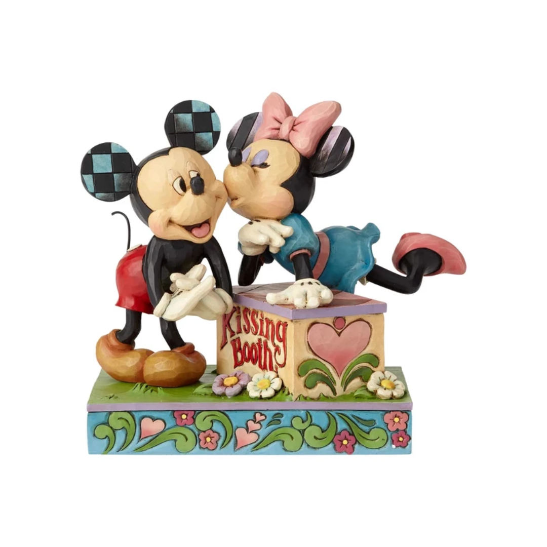 Disney Mickey & Minnie Kissing Booth Figure by Enesco