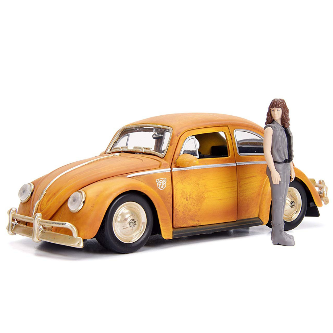 Bumblebee Movie 1:24 Scale Volkswagen Beetle Die-Cast Car with Figure by Jada Toys