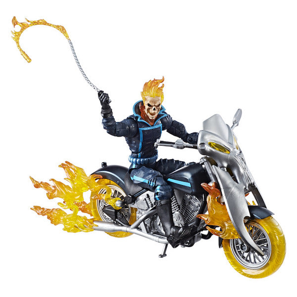 Back In Box - Marvel Legends: Ghost Rider with Flame Cycle Figure by Hasbro