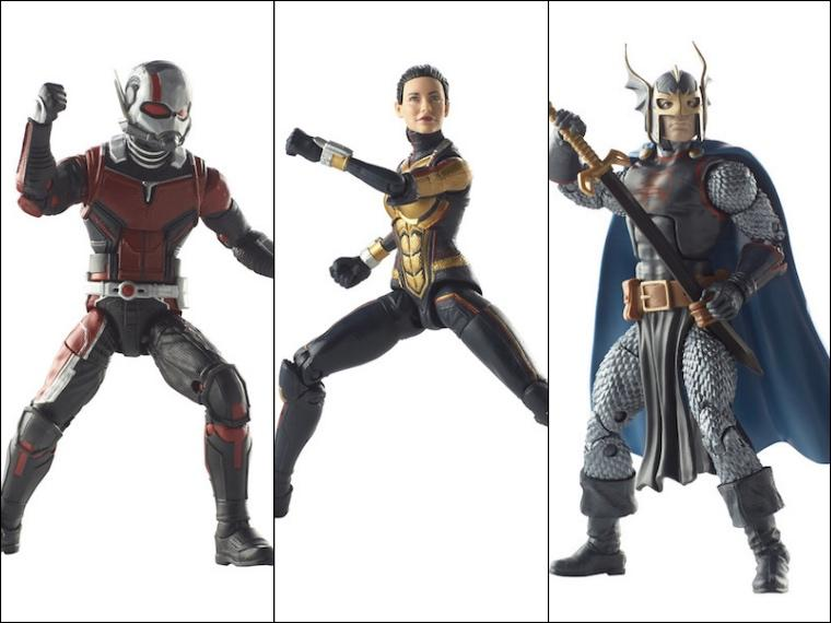 Avengers Marvel Legends Ant Man, Wasp, Black Knight 3-Pack by Hasbro