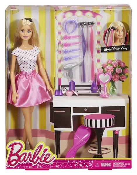 Barbie Doll and Make-up Playset by Mattel