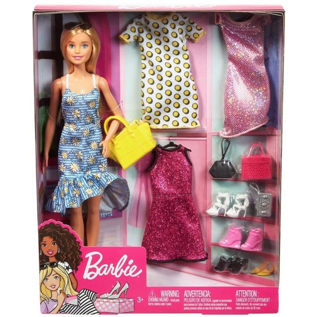 Barbie Doll With Sundress & Accessory Set by Mattel -Mattel - India - www.superherotoystore.com