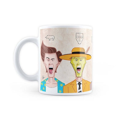 Jim Carrey Art Mug by Graphicurry