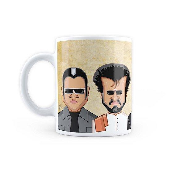 Rajni Sir Art Mug by Graphicurry